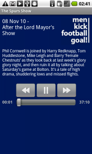 Spurs Show on Android