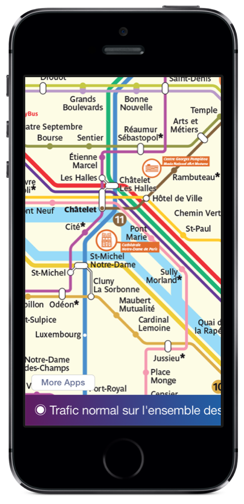 Paris Metro Map iPhone 5