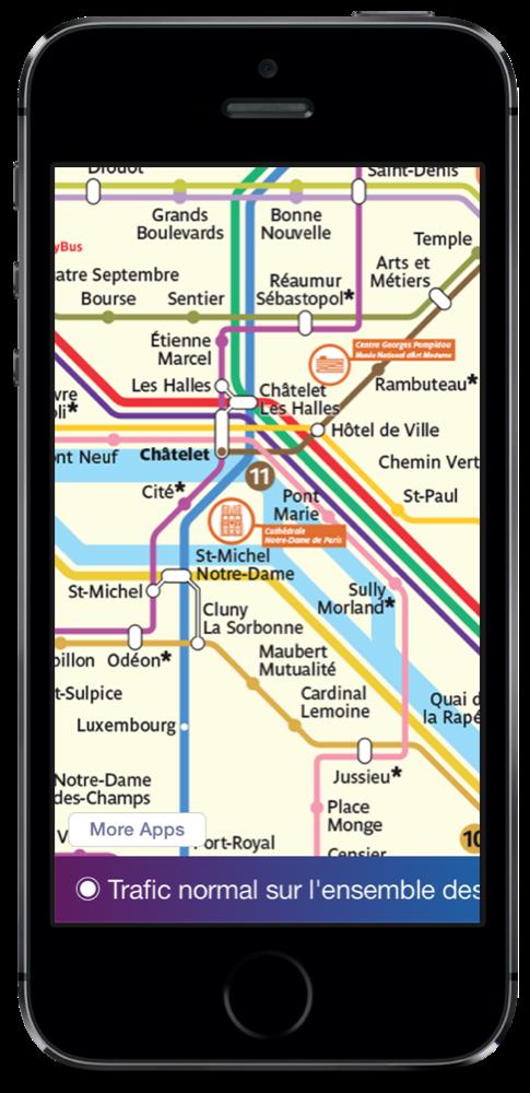 Paris Metro Map iPhone 5